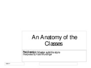 An Anatomy of the Classes