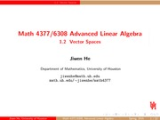 Lecture 1.2 on Advanced Linear Algebra