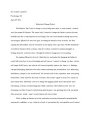 Behavior change project paper