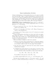linear transformations the basics