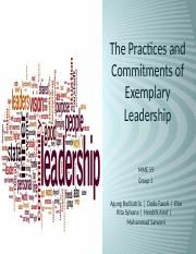 The Practices and Commitments of Exemplary Leadership