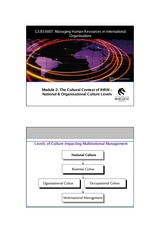 The Cultural Context of IHRM- National & Organisational_2