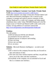 business intelligence case study bank Business intelligence case study bank technology education research paper drugs do nothing to treat the underlying causes of back pain, which is often related to body.