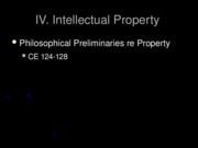 IV.A Intellectual Property