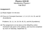 PHYS 1210 - 02 Lecture Notes - How Things Move 2 (D)