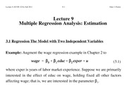 Lecture+9+Multiple+Regression+Analysis+-+Estimation