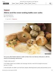 Atkins and the never-ending battle over carbs - BBC News