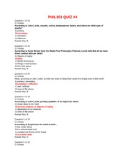 phil101 quiz 4 View test prep - quiz 4 from phil 101 at american public university quiz #4  return to assessment list part 1 of 1 - 150 points 15 points question 1 of 10.