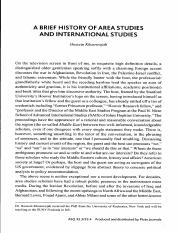 A Brief History of Area Studies and International Studies33-3-4 (2011) 2015-08-26.pdf