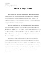 Music in Pop Culture