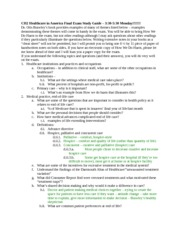 CH2 Final Exam Study Guide