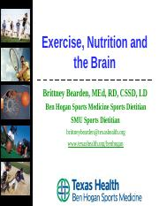 Exercise, Nutrition and the Brain.ppt