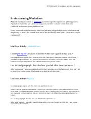 psy202 wk 1 brainstorming journal 1 Scribd is the world's largest social reading and publishing site 1 l i n n - b e n t o n c o magazine and journal articles and other scholarly or general.