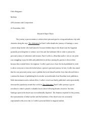 Alchemist research paper thesis.docx