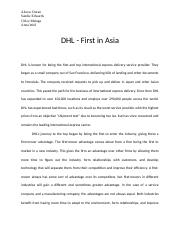 DHL first in asia case.docx