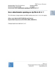 Docx file attachments opening as zip files in IE 6 and 7