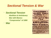 BB Notes, Sectional_Tension_and_War