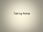 11. Taking Notes - Researching