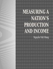 2- Measuring a nation's production and Income