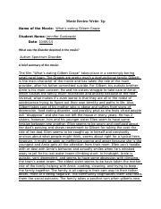 Whats Eating Gilbert Grape Case Analysis  Bar Lehmann Paper    Pages Mh Gilbert Grape Dsmv