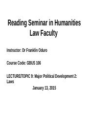 Lecture 9 Law Faculty (Laws).pptx