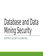 Chapter 6 - Database Security (1)