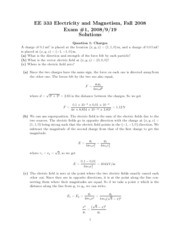 Exam 1 Solutions 2008