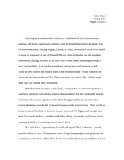 self evaluation nichole cloyd r section demonstration 2 pages superhero essay one