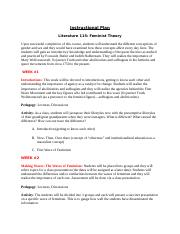 Instructional Plan- Feminist Theory (1).docx