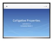 Colligative Properties Lecture slides