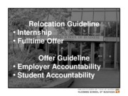 Week 10 Relocation Offer Guideline.Student Panel Spring 2010