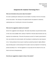 Assignment 5 Part 2
