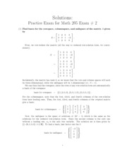 MATH 205 Practice Final 2 With Answer Key Spring 2011