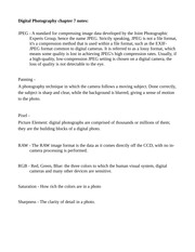 Digital Photography Chapter 7