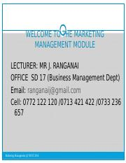 Marketing Management (CBU 4108) Notes  2014.ppt