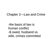 Law and Crime Lecture Slides