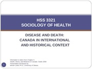 Chapter 3 Disease and Death_Canada in International and Historical Context