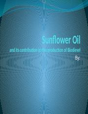 Sunflower Oil - Homework Assignment 3