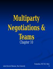 Chap 10 Multiparty negotiations