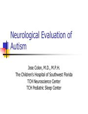 2011NeuroEvalofAutism-Colon