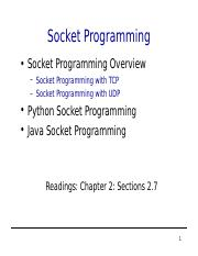 csci4211-socket-programming ppt - Socket Programming Socket