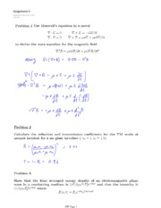 PHYS 454 HOMEWORK 5 SOLUTIONS