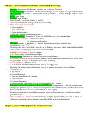 Peds- Exam 1 Notes (Ch 1,3-10) Complete.docx