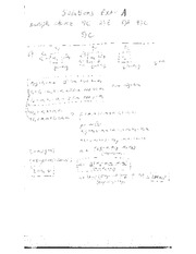 Exam 1A Solutions on Physics For Life Science Majors