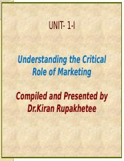 Unit 1-I-An Intoduction to Market and marketing