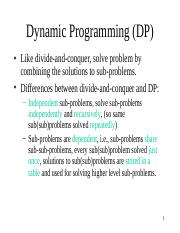 7.Dynamic Programming (Chapter 15)