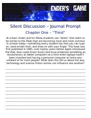 Silent Discussion - Journal Prompts.docx