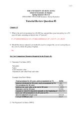 Tutorial 5 Suggested Answers
