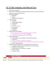 Ch 31 Skin Integrity and Wound Care.docx