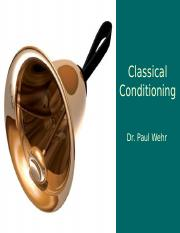 Ch6a-ClassicalConditioning